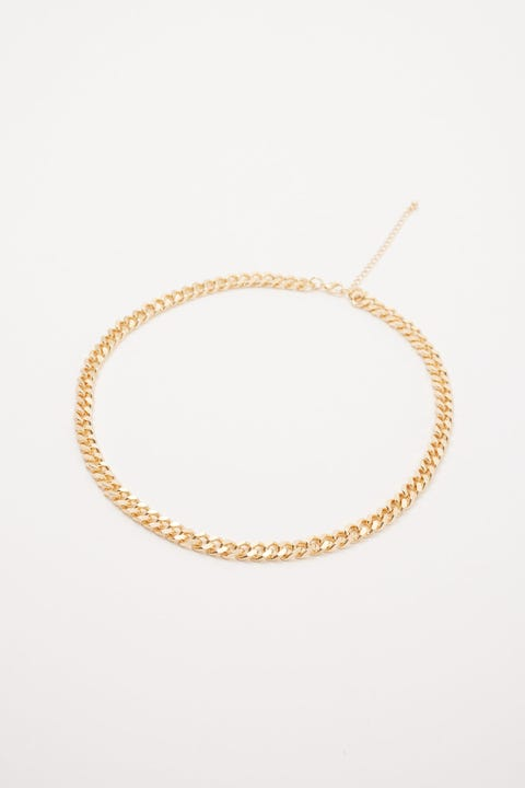 Common Need Curb Chain Necklace Gold