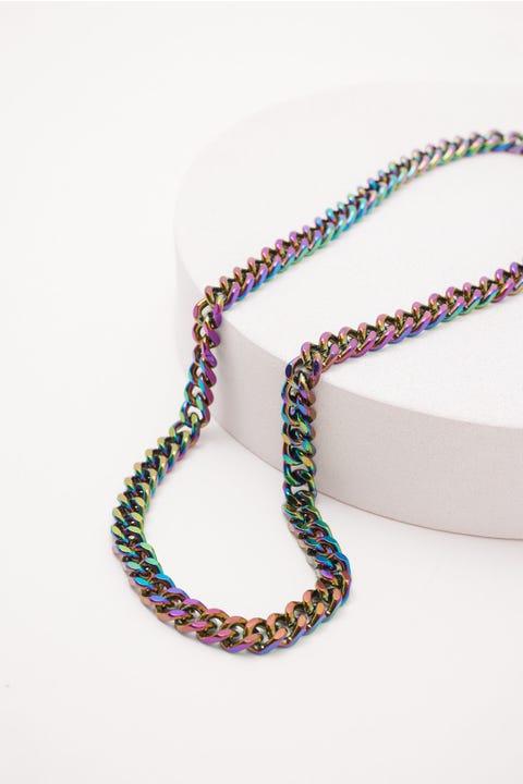 Neovision Iridescent Curb Chain Necklace Multi