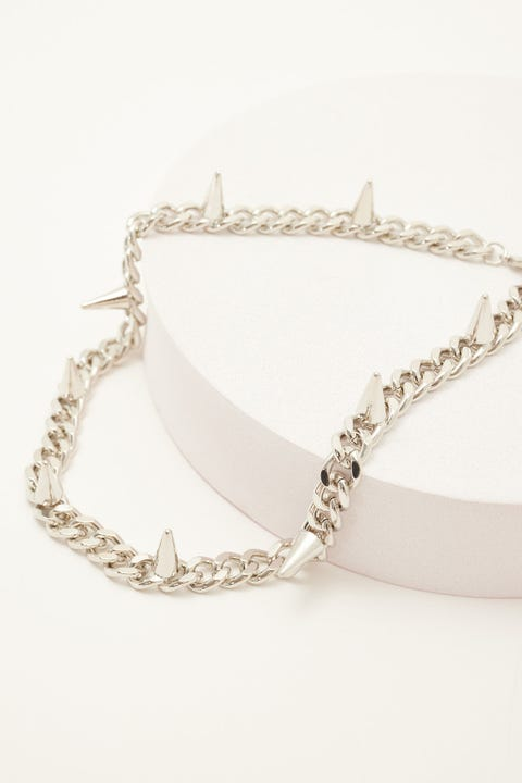 Neovision Spikes Necklace Silver