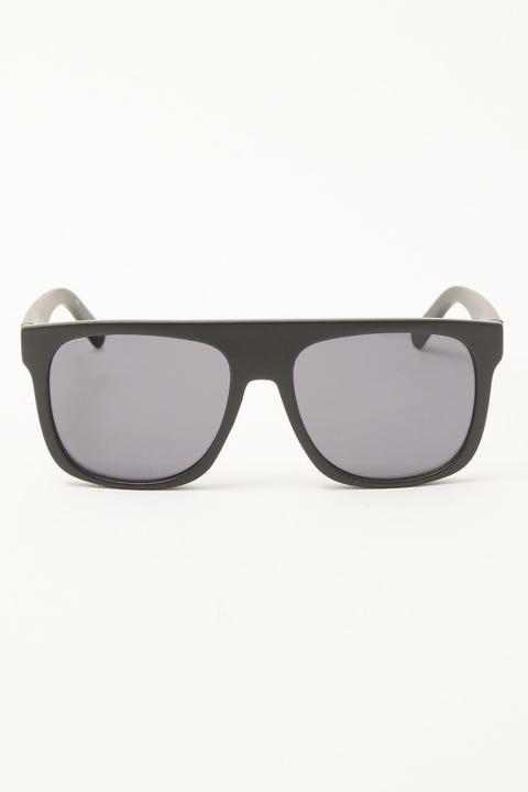 Le Specs Covert Black Rubber Smoke Mono