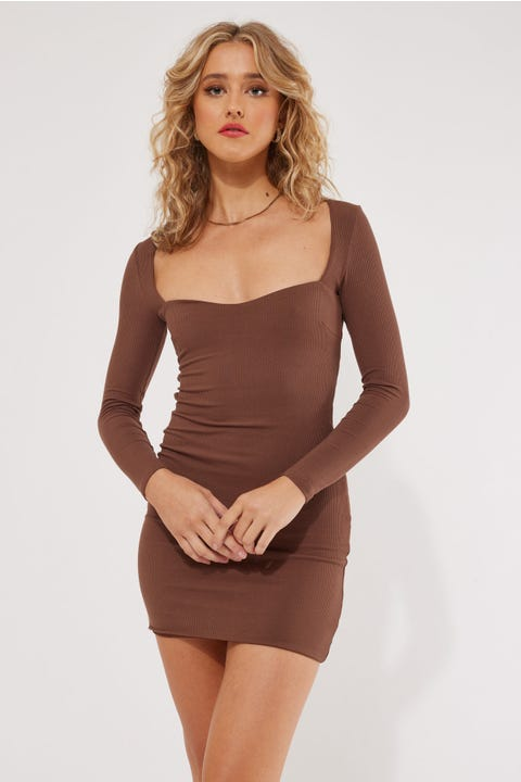 Luvalot Clothing Nolita Mini Dress Chocolate