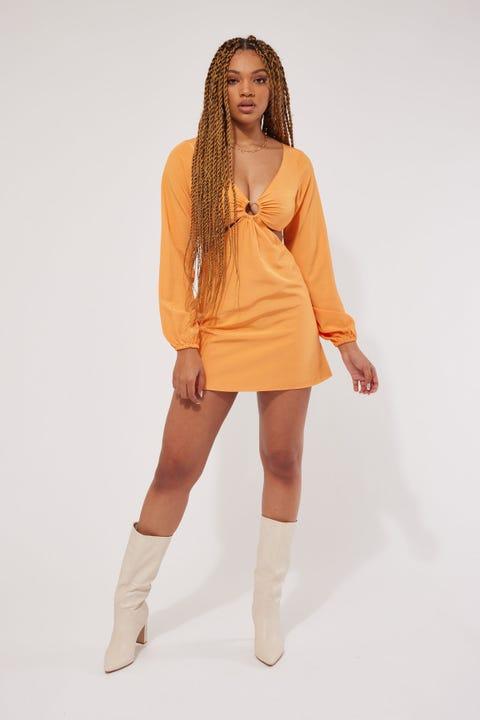 Perfect Stranger Apollo Mini Dress Orange