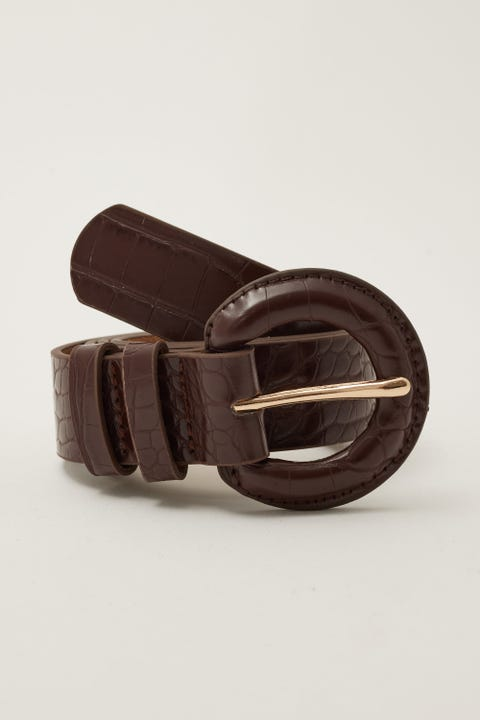 Token Dressy Croc Belt Brown
