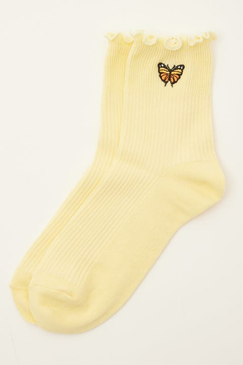 Token Butterfly Dion Sock Yellow
