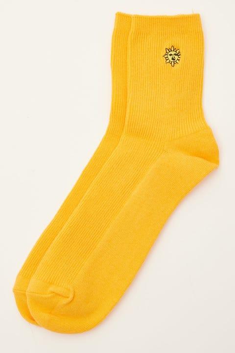 Token Sun Face Sock Orange