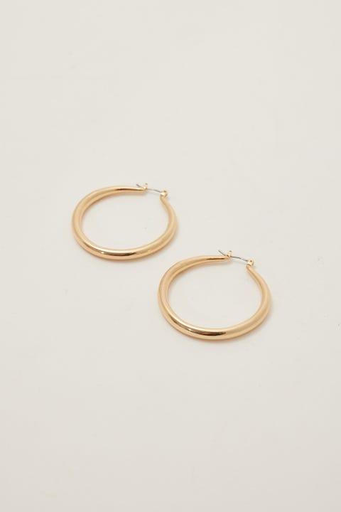 Token Large Hoop Earrings Gold