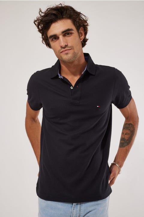 Tommy Jeans Tommy Slim Polo Shirt Black