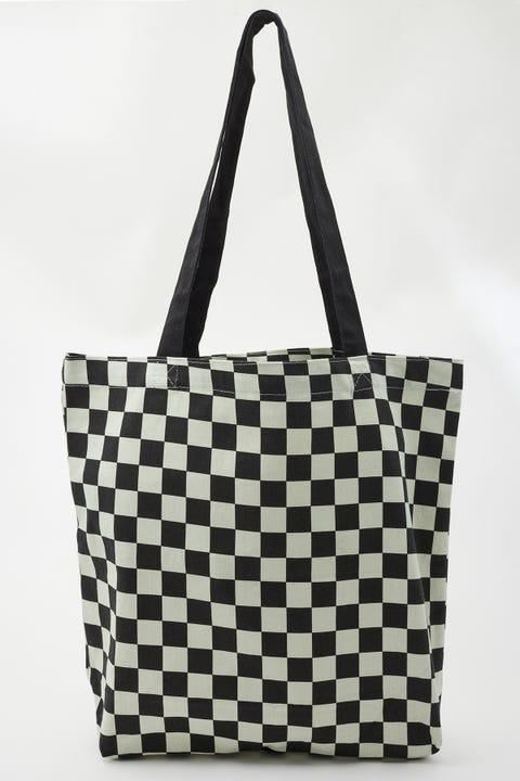 Neovision Organic Cotton Check Tote Bag Black & White