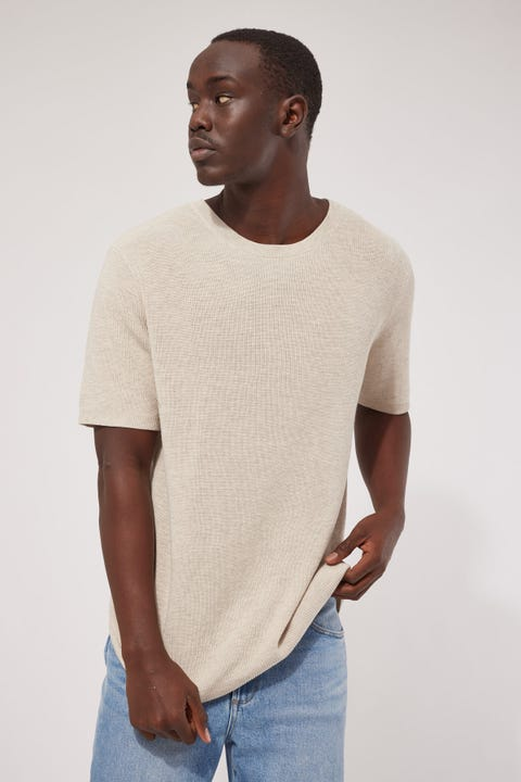 Common Need Knit Tee Oat Marle