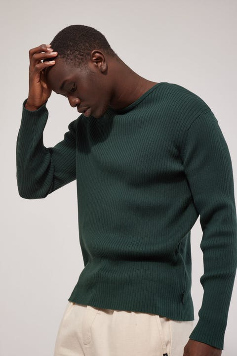 Common Need Antonio Long Sleeve Knit Top Green