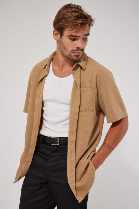 Common Need Sail Knitted Shirt Tan