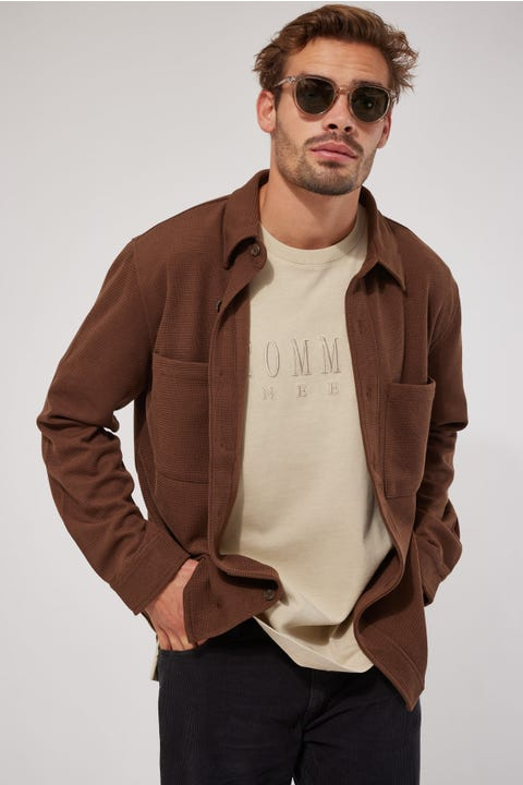 Common Need Sail Knitted Overshirt Brown