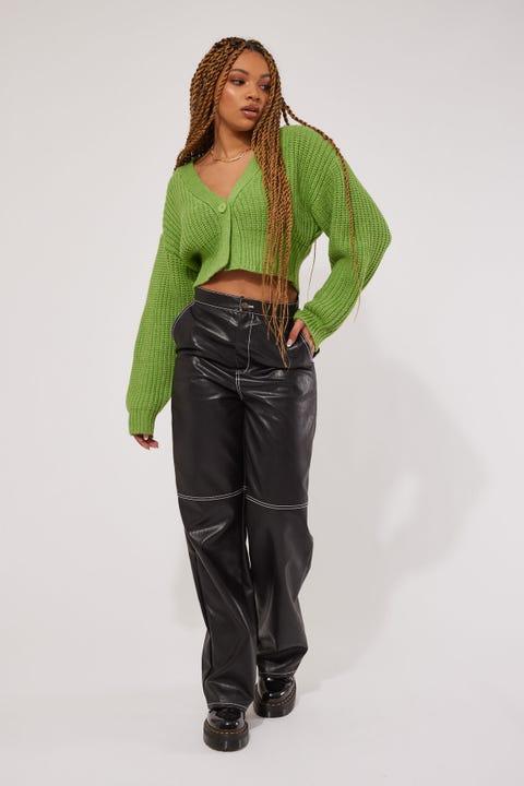 Perfect Stranger Romantic Knit Cardigan Green