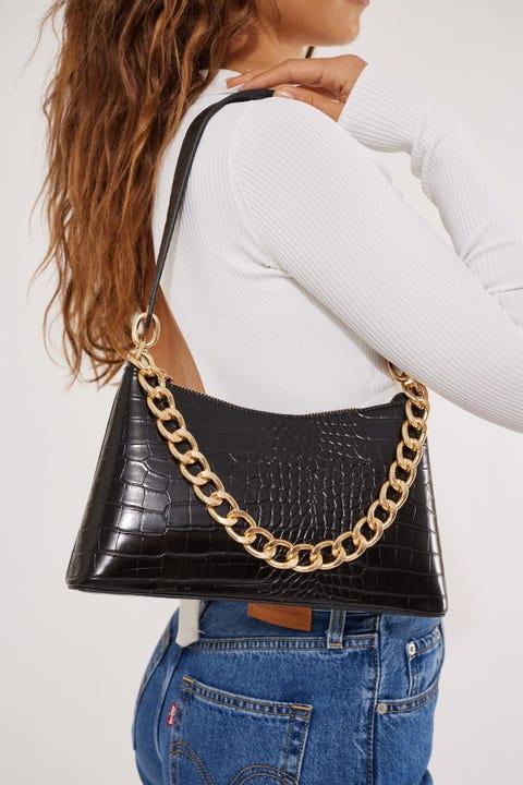 Token Sidney Chain Shoulder Bag Black