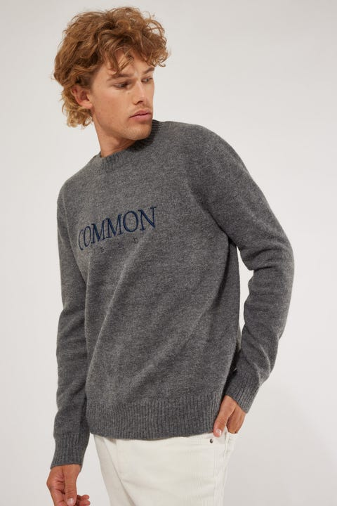 Common Need Institute Knit Sweater Grey Marle
