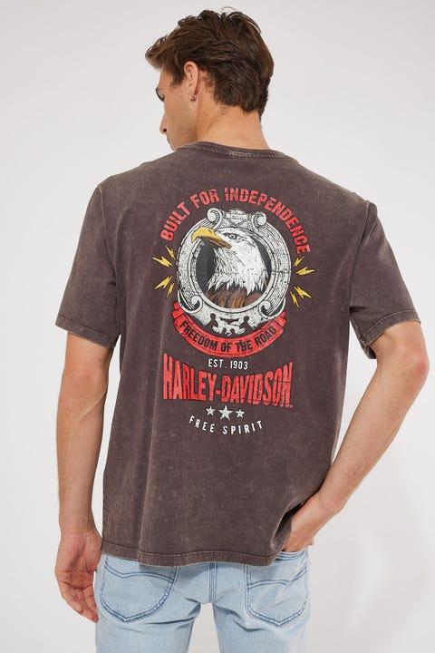 Harley-davidson Bar & Shield Freedom Tee Vintage Brown