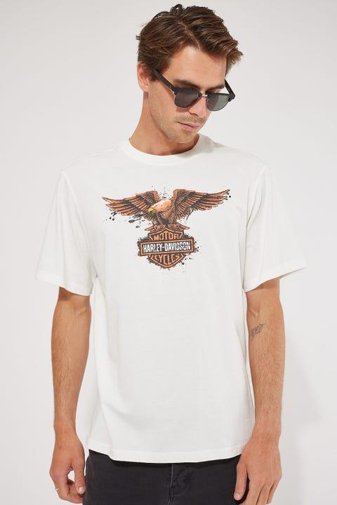 Harley-davidson Eagle Freedom Tee Vintage White