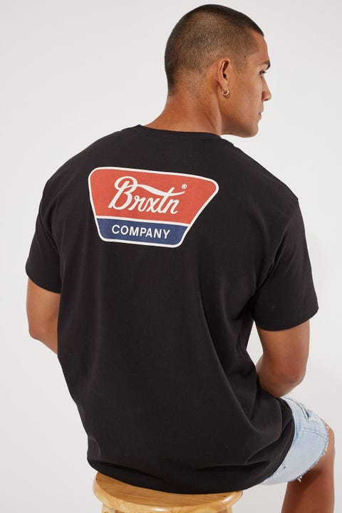 Brixton Linwood Tee Black/Red