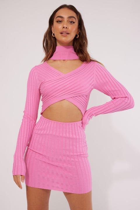 Lioness Pink Floyd Mini Dress Pink