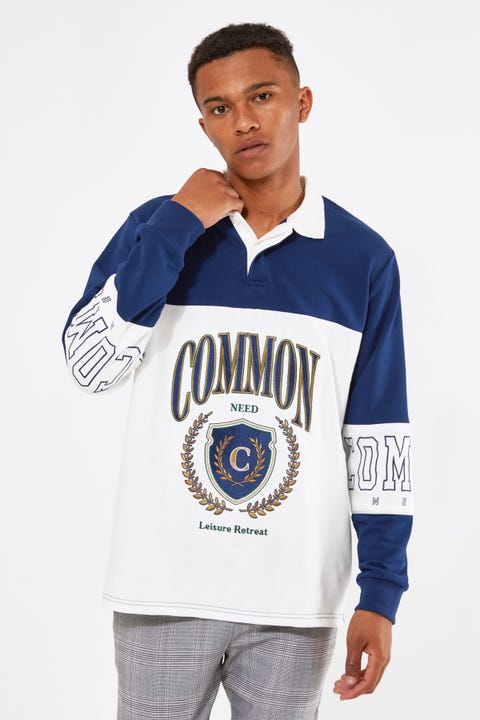 Common Need Leisure Rugby Navy/White