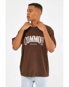 Common Need Wealth Organic Boxy Tee Dark Brown