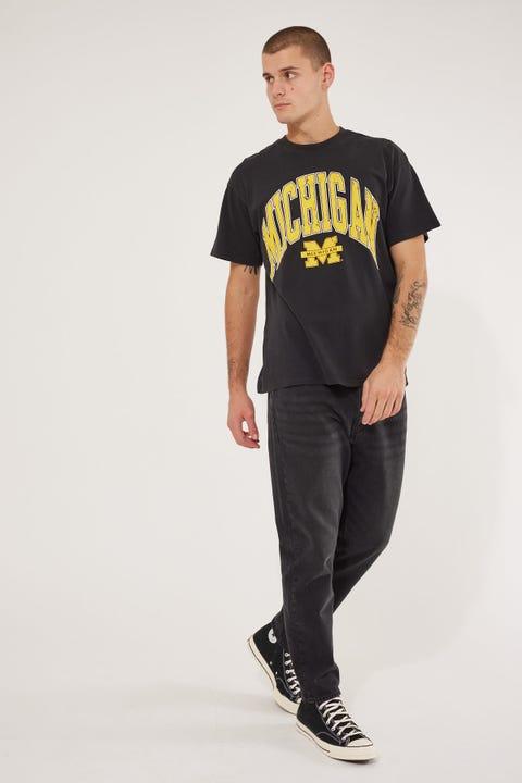 Ncaa Michigan Vint High Arch Logo tee Vintage Black