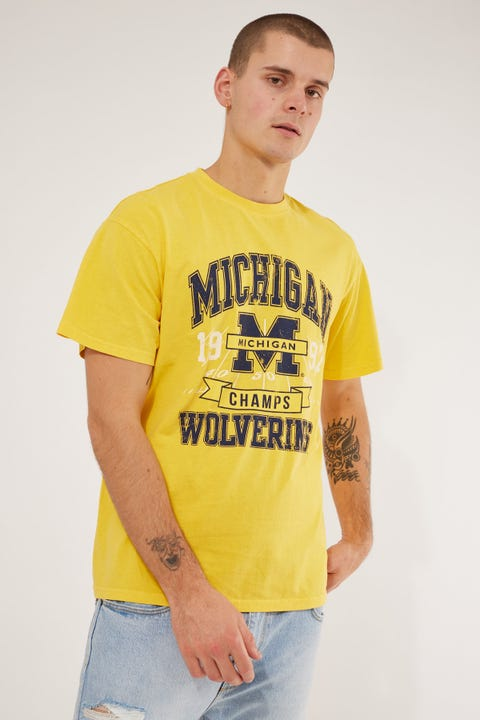 Ncaa Michigan Vintage Champs Tee Vintage Yellow