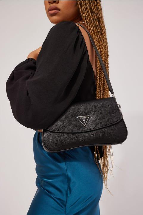 Guess Originals Guess Cordelia Flap Shoulder Bag Black