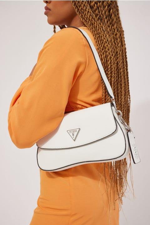 Guess Originals Guess Cordelia Flap Shoulder Bag White