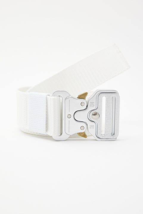 Common Need Cobra Buckle Web Belt Ecru/Silver