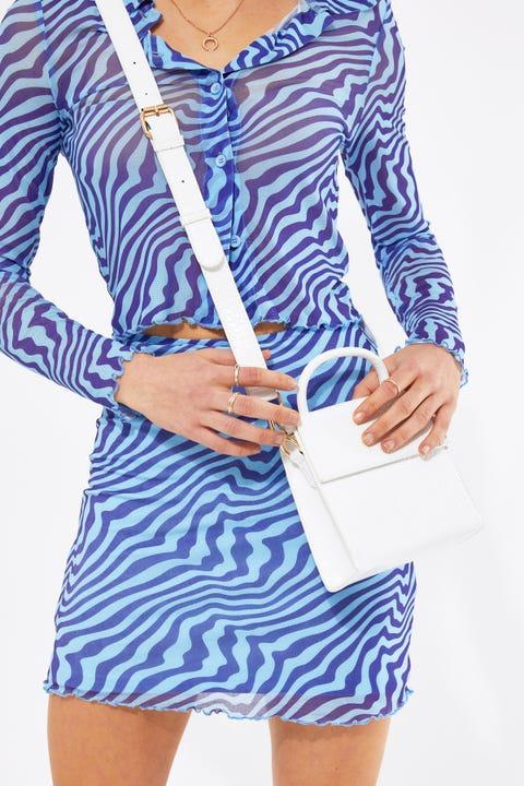 Token Elsie Croc Handbag White