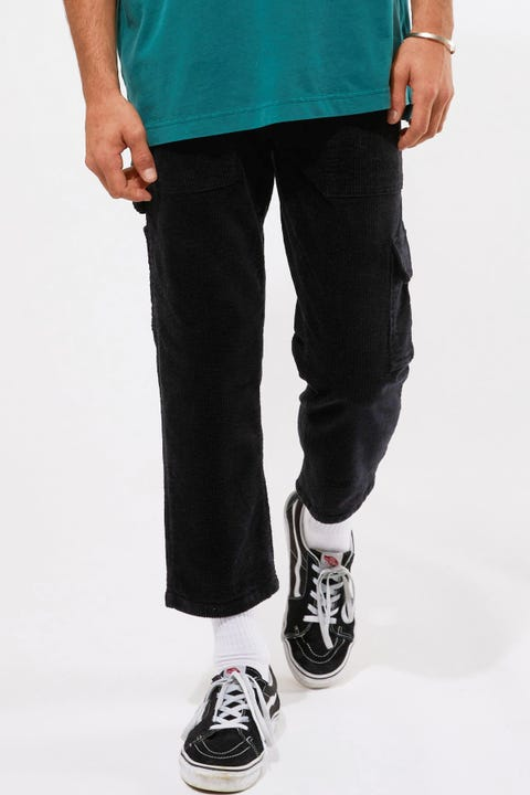 Common Need Trevor Cord Carpenter Pant Washed Black