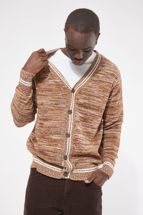 Common Need Knitted Cardigan Brown Marle
