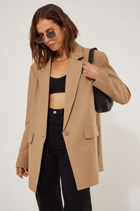 Lioness Welcome To The Jungle Blazer Tan