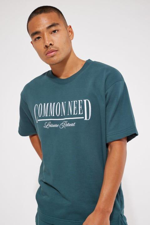 Common Need Mellow Loopback Tee Teal