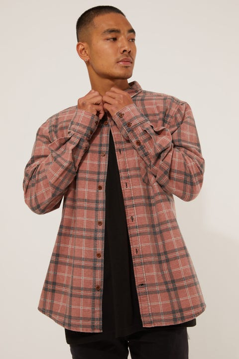 Kiss Chacey Trusted Casual Shirt Red/Clay Check
