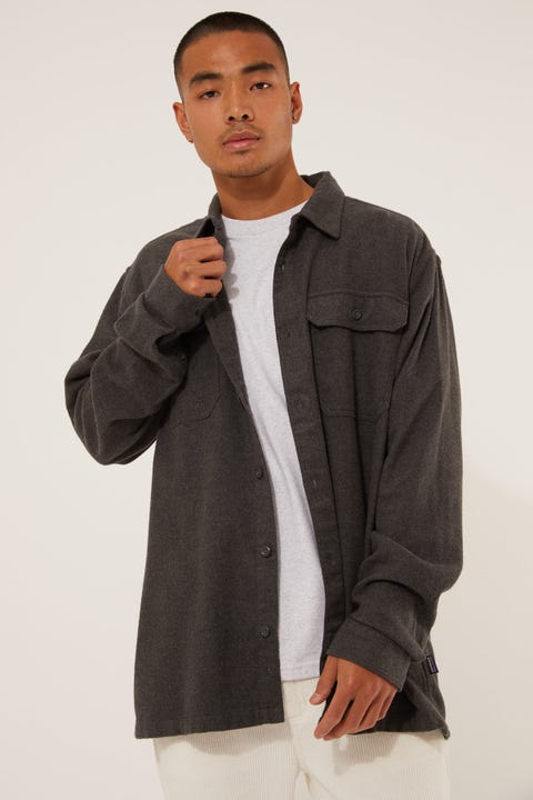 Patagonia M's LS Fjord Flannel Shirt Forge Grey