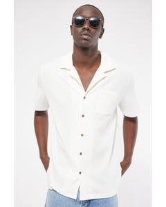 Common Need Studio Resort Collar Shirt Off White