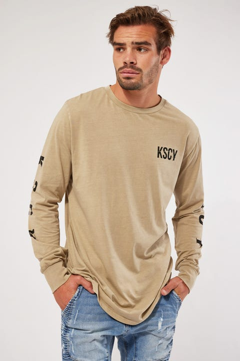 Kiss Chacey Code Cape Back LS Tee Pigment Sand