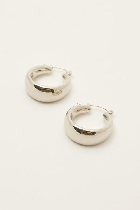 Token Thick Hoop Earring Silver