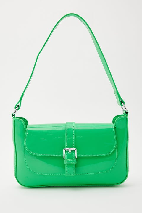 Token Patent Buckle Bag Green