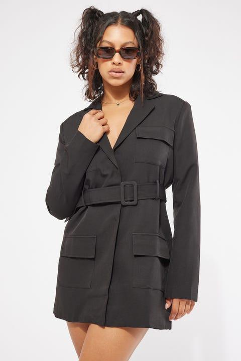 Lioness Steinway Mini Dress Black