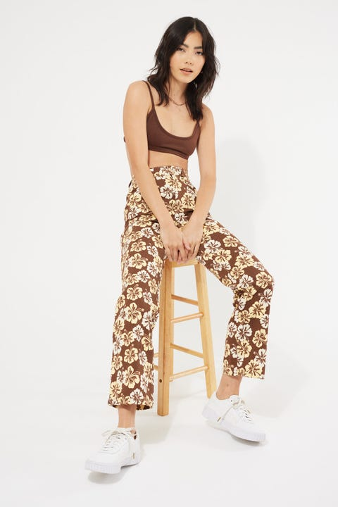 Perfect Stranger Chocolate Paradise Pant Brown Floral