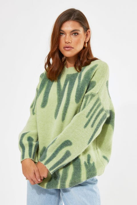 Warm Melt Knit Green