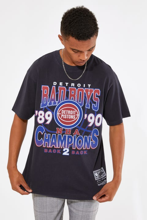 Mitchell & Ness Vintage Detroit Champs Tee Faded Black