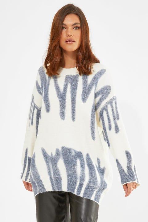 Warm Melt Knit Blue