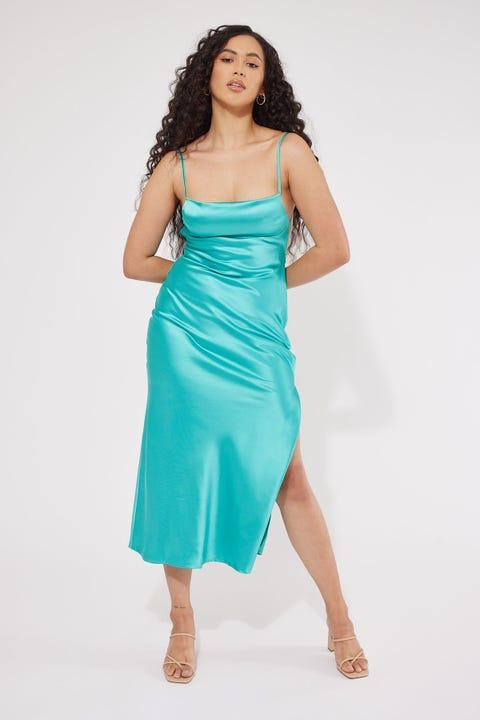 Perfect Stranger Madison Maxi Dress Blue