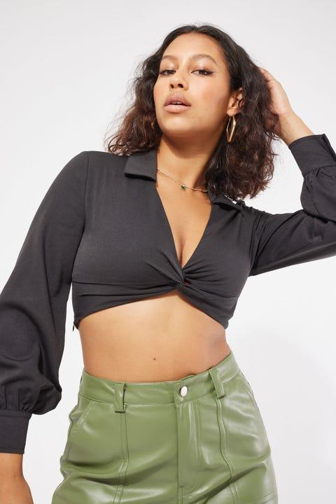 Luvalot Clothing Twisted Shirt Black