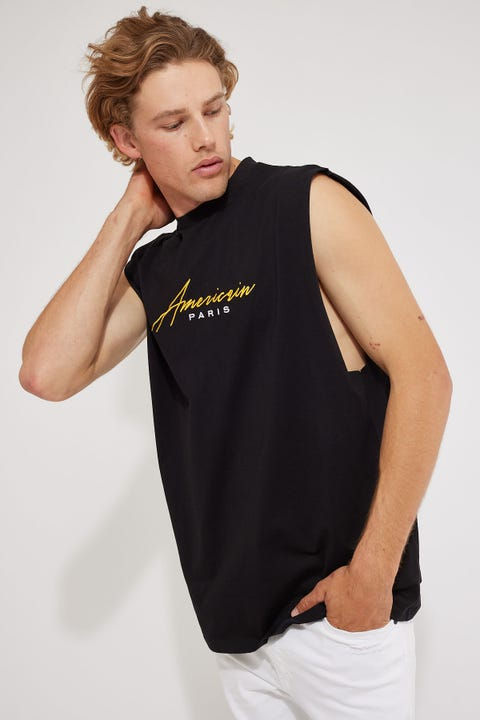 Americain Stellaire Muscle Tee Jet Black