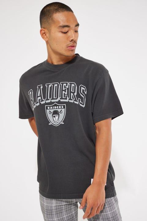 Mitchell & Ness Vintage Raiders Keyline Logo Tee Faded Black